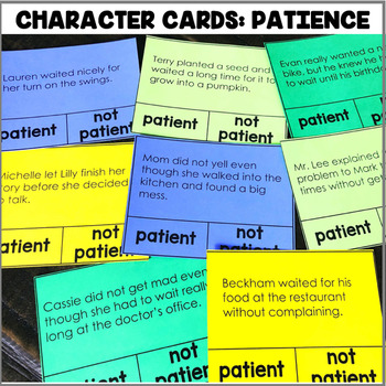 """""""Character Cards: Patience"""" Center"""