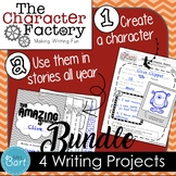 4 Projects: Descriptive, Expository, Persuasive, Narrative {Character Factory}
