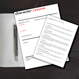 """Character Resume/CV"" Activity - Literature - Creative wri"