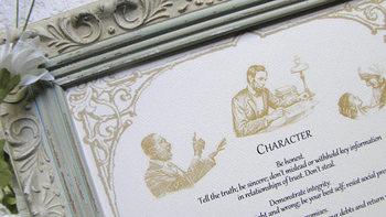 """Character"" framed print"