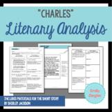 """""""Charles"""" by Shirley Jackson Literary Analysis Graphic Organizers"""