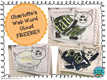 {{Charlotte's Web Word Cloud FREEBIE!}}