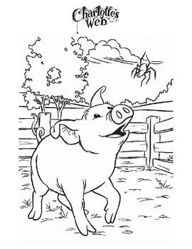 Free Charlotte S Web Coloring Pages - Coloring Home | 350x270