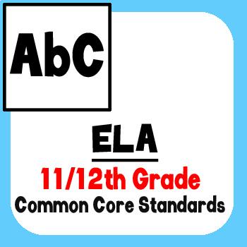 *Checklist* 11th & 12th Grade ELA - Common Core State Standards CCSS