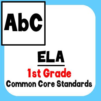 *Checklist* 1st Grade ELA - Common Core State Standards CCSS