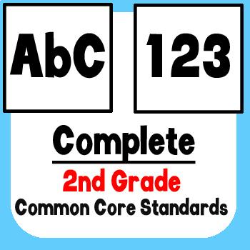 *Checklist* 2nd Grade ELA & Math - Common Core State Standards CCSS