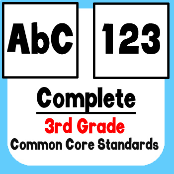 *Checklist* 3rd Grade ELA & Math - Common Core State Standards CCSS