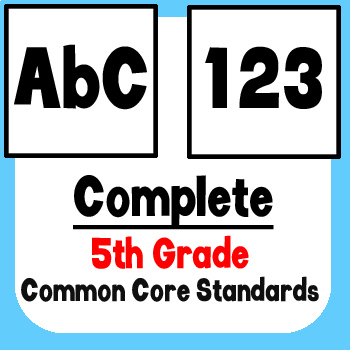 *Checklist* 5th Grade ELA & Math - Common Core State Standards CCSS