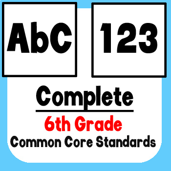 *Checklist* 6th Grade ELA & Math - Common Core State Standards CCSS