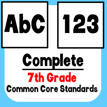 *Checklist* 7th Grade ELA & Math - Common Core State Standards CCSS