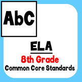 *Checklist* 8th Grade ELA - Common Core State Standards CCSS