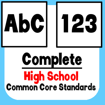 *Checklist* High School ELA & Math - Common Core State Standards CCSS