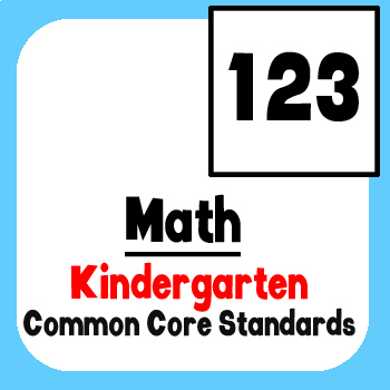*Checklist* Kindergarten Math - Common Core State Standards CCSS