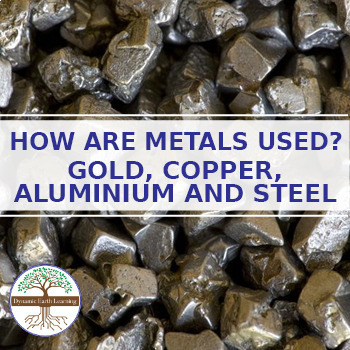 (Chem) Metallic Bonding: HOW ARE METALS USED GOLD, COPPER,  ALUMINIUM AND STEEL