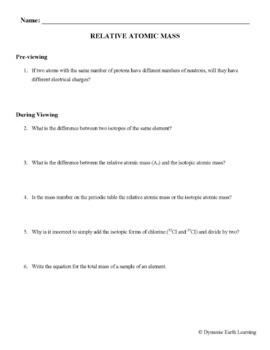 (Chemistry) RELATIVE ATOMIC MASS - FuseSchool - Video Guide