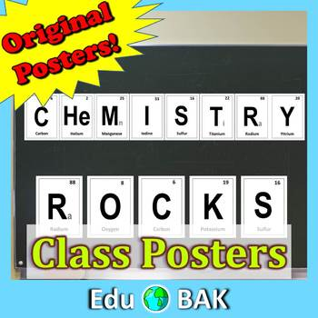 Chemistry Rocks Periodic Elements Printable Posters Class