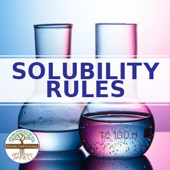 (Chemistry) SOLUBILITY RULES - FuseSchool - Video Guide
