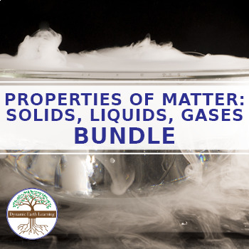 (Chemistry Bundle) Solids, Liquids and Gases - FuseSchool Video Worksheets