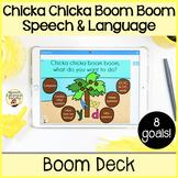"""Chicka Chicka Boom Boom"" Speech and Language: Boom Cards"