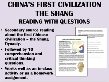 """""""Chinese Civilization Emerges in Shang Times"""" - Global/World History"""