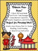 """Chinese New Year"" Literacy Morning Work with Text, Comprehension, & Writing"