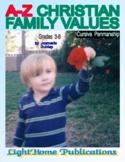 """Christian Family Values"" Cursive Penmanship A-Z"