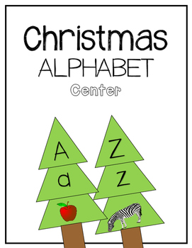 Christmas Tree / Alphabet Matching Center