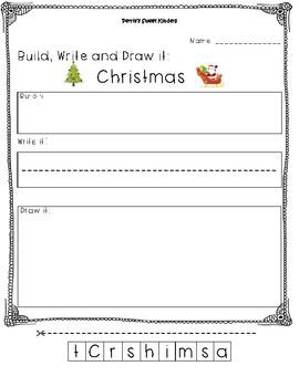 """Christmas"" Build, Write and Draw"