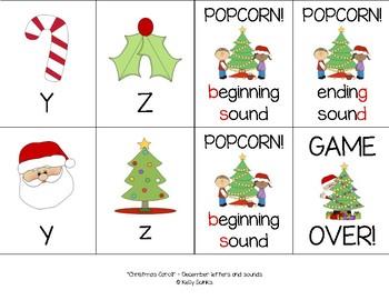 """Christmas Carol!"" - Phonics Game BUNDLE (letters, CVC, blends, digraphs, CVCe)"