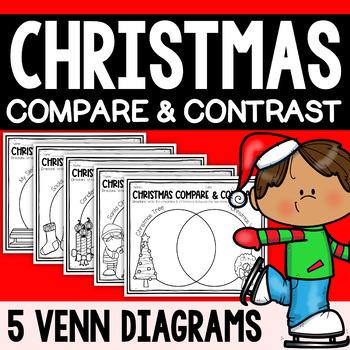 ***christmas compare & contrast venn diagram worksheets winter bundle***