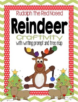 { Christmas } : Decorated Rudolph the Red Nosed Reindeer Craftivity