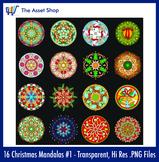 'Christmas Mandalas' Set #1 (Digital Clip Art)