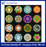 'Christmas Mandalas' Set #2 (Digital Clip Art)