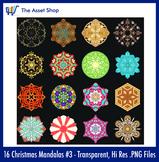 'Christmas Mandalas' Set #3 (Digital Clip Art)