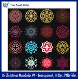 'Christmas Mandalas' Set #4 (Digital Clip Art)