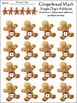 Christmas Activities: Gingerbread Math Christmas Math Drills Mini Packet