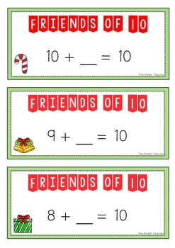 *Christmas Themed* Friends of 10 - FREE Activity Pack -
