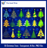 Vector 'Christmas Tree' Set (Digital Clip Art)