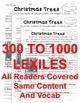 Christmas Trees CLOSE READING 5 LEVELED PASSAGES Main Idea Fluency TDQs & More