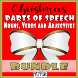 {Christmas parts of speech} {Christmas Grammar worksheets} {CHRISTMAS NOUNS}