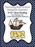 """""""Christopher Columbus"""" 3-6th CCSS Aligned Close Reading Text/Graphic Organizers"""