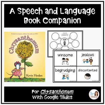 """""""Chrysanthemum"""" A Back-to-School Speech & Language Companion"""