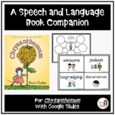 """Chrysanthemum"" A Back-to-School Speech Therapy Book Companion"