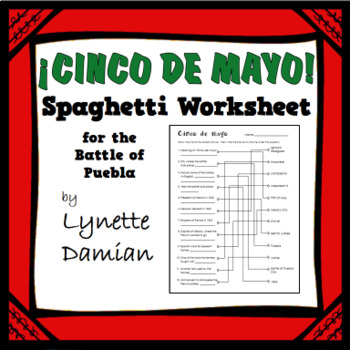 ¡Cinco de mayo! Spaghetti Worksheet for the Battle of Puebla