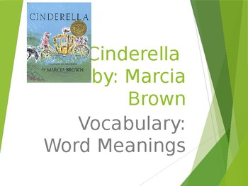 """Cinderella"" Guidebook Unit: Vocabulary"