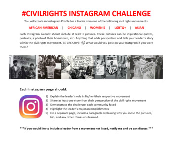 #CivilRights Instagram Challenge
