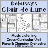 """Clair de Lune""  for Piano/Orchestra Music Listening and Mood Activity Worksht."