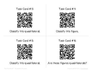 """""""Classifying Quadrilaterals"""" QR Code Scavenger Hunt"""