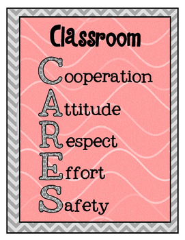 """""""Classroom CARES"""" PBIS Expectations Poster"""