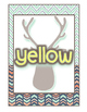 *Classroom Decor* - TRIBAL PRINT Color Signs